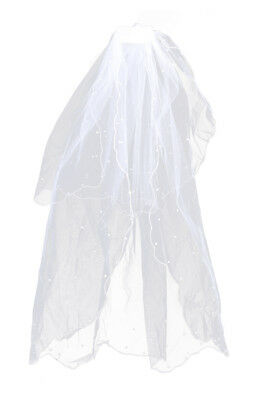 2-Tier New White Wedding Bridal Veil with Comb B2S2