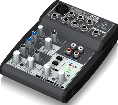 Behringer XENYX 502 5-Input 2-Bus Mixer with XENYX Mic Preamp and British EQ NEW