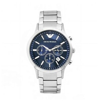 New Emporio Armani AR2448 Chronograph Stainless Steel Men's Watch