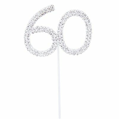 Cake Topper for 60th Wedding Anniversary/Birthday Party DU F3L2