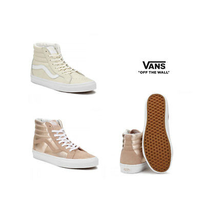 c47d43838b5 Vans Womens Mahogany Rose   True White - Beige SK8-Hi Reissue Trainers Size  3
