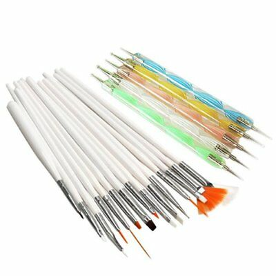 20pcs Nail Art Design Set Dotting Painting Polish Brush Pen Tools O5R0