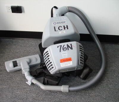 Battery Operated Backpack Vacuum Cleaner By Nilfisk Advance, For Parts Or Repair