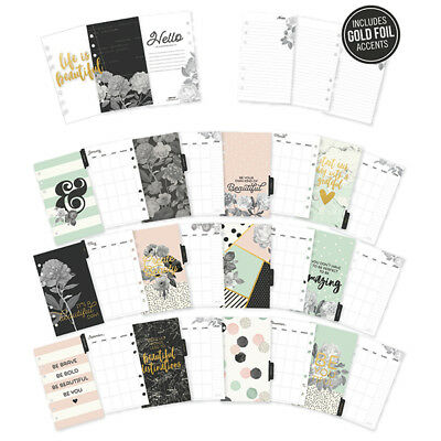"Carpe Diem BEAUTIFUL Personal Monthly Planner Inserts 4"" x 6.75"" (1 Pack of 32)"