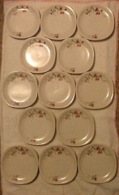 """13 SYRACUSE CHINA Trend """"Berkeley"""" 6"""" Bread Plates- Pink Blossoms Assorted Numb."""