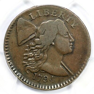 1794 S-65 PCGS VF 20 Liberty Cap Large Cent Coin 1c