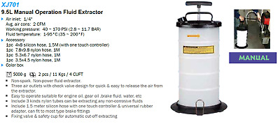 Liquidation - 9.5 Liter Manual Fluid Extractor XJ701