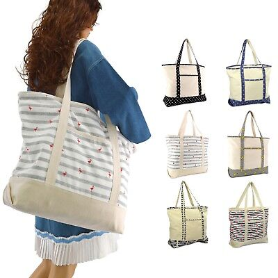 """DALIX 22"""" Shopping Tote Bag in Heavy Cotton Canvas (Special Pattern Edition)"""