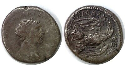 98-117 AD Roman Empire Trajan Syria Tetradrachm Of Antioch Eagle/Club Silver