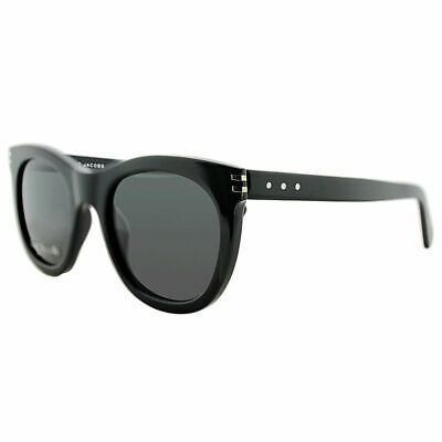 45a72897c7c80 Marc Jacobs MJ 565S 807 Y1 Black Plastic Square Sunglasses Grey Lens