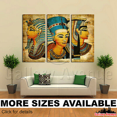 3 Panel Canvas Picture Print - Old Egyptian papyrus 3.2
