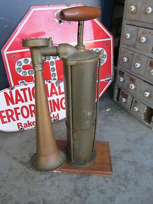 Nautical Brass Fog Horn Antique Vintage Old Heavy Decor Hand Pump AS FOUND