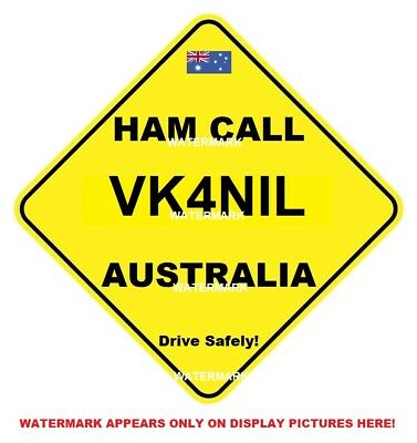 Amateur Radio Call Signs - Personalised - Just Supply Your Call Sign -  Freepost