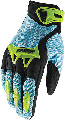 THOR MX Motocross 2017 SPECTRUM Gloves (Powder Blue) Choose Size
