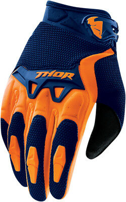 THOR MX Motocross 2016 SPECTRUM Gloves (Navy/Orange) Choose Size