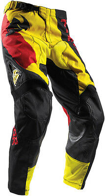 THOR MX Motocross 2017 PULSE TAPER Pants (Yellow/Red) Choose Size