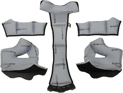 ICON Hydra-Dry Cheekpads/Liner Set for Airframe Pro Helmets (Gray) Choose Size