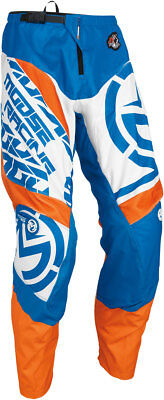 MOOSE Racing MX Motocross Men's 2017 QUALIFIER Pants (Blue/Orange) Choose Size