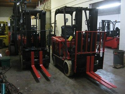 TWO (2) RAYMOND 5,000lb FORKLIFTS - New Tires, 5,000lb Cap, Wholesale Pricing
