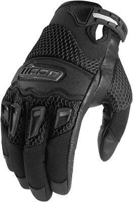 ICON Twenty-Niner Leather/Mesh Short Motorcycle Gloves (Black) Choose Size