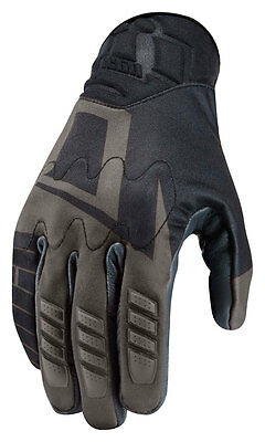 ICON WIREFORM Textile/Leather Touchscreen Motorcycle Gloves (Black) Choose Size