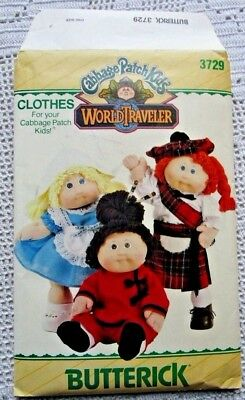 """3729 Sewing Pattern~Unc1986~Cabbage Patch Kids~16""""doll Clothes:costume:scottish+"""