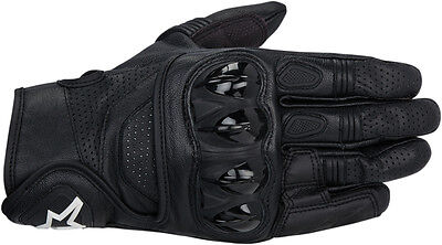 ALPINESTARS Celer Leather Touch Screen Motorcycle Gloves (Black) Choose Size