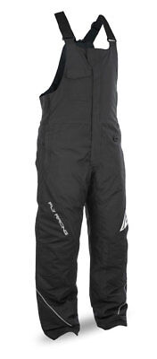 FLY RACING Snowmobile 2017 OUTPOST Insulated Bibs/Pants (Black/Grey) Choose Size