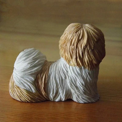 Resin MINI Shih Tzu dog Hand Painted simulation model Figurine Statue