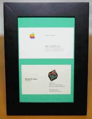 RARE Apple STEVE JOBS Apple and NeXT Steve Wozniak Original Business Cards