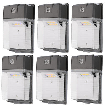 LED Wall Pack Light 30W 3300lm Dusk-to-dawn Waterproof IP65 100-277VAC (6-Pack)