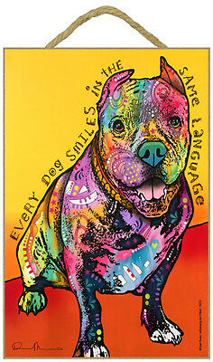 Pit Bull People Every Dog Smiles In The Same Dog Dean Russo Wood Plaque Sign