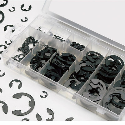 120Pcs E-Clip & Retaining Ring Assortment Kit 3mm 4mm 5mm 6mm 8mm 9mm