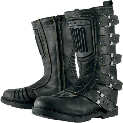 ICON Ladies 1000 Elsinore Leather Motorcycle Boots (Black) Choose Size
