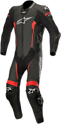 Alpinestars MISSILE Leather Riding Suit Tech-Air Compatible (Black/Red)