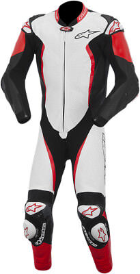 ALPINESTARS GP TECH 1-PC Leather Motorcycle Suit (White/Black/Red) Choose Size