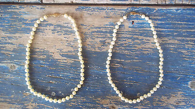 LOT of 2 VINTAGE retro AVON costume jewelry pretty PEARLS necklaces 18 inch NEW