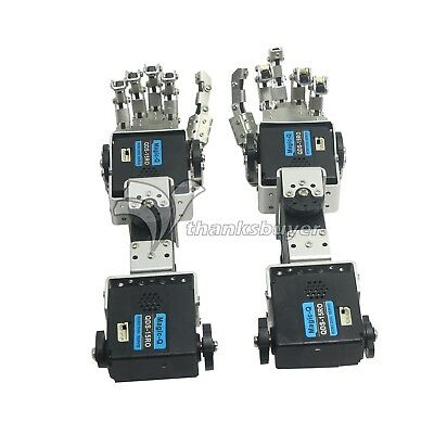 Robot Left Hand Right Hand Arm Humanoid Fingers Manipulator with Servo DIY