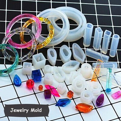 Silicone Pendant Stud Mold DIY Making Jewelry Resin Casting Mould Craft DIY Tool