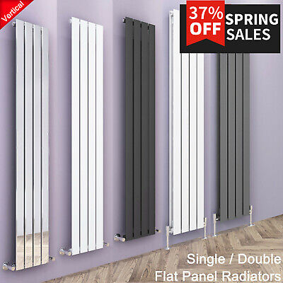Designer Radiators Vertical Flat Panel Tall Upright Central Heating Rads UK