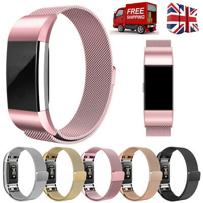 Magnetic Milanese Stainless Steel Watch Band Strap For Fitbit Charge 2 *UK*☆☆☆☆☆