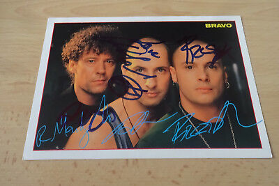 Right Said Fred Autogramme signed 10x15 cm Postkarte