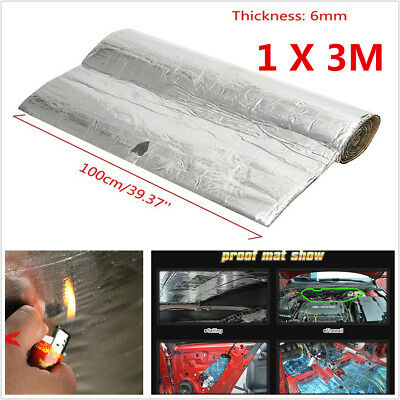 1MX3M 6mm Firewall Sound Deadener Car Heat Shield Insulation Deadening Floor Mat