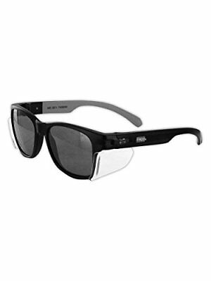 Magid Safety Y50BKAFGY Glasses   Classic Hard Coated with Black Frame Gray Lens