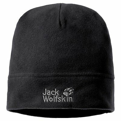 Jack Wolfskin Real Stuff Unisex Mütze, Black, One Size