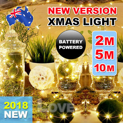 2-10 M Battery Powered Copper Wire String Fairy Xmas Party Lights Warm White AU