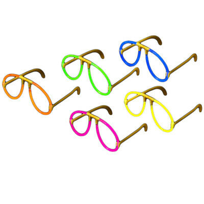 10 x Glow Glasses Pack - Glow Stick Bright Neon Glasses Parties