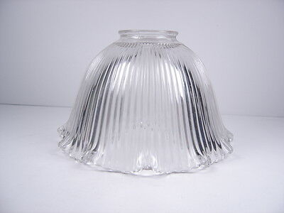 """Vintage 1920's Industrial Glass Holophane Style Light Shade Globe 7"""""""