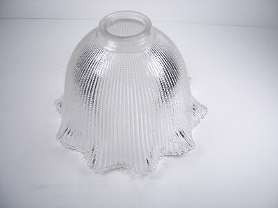 """Vintage 1920's Industrial Glass Holophane Style Light Shade Globe 8"""""""