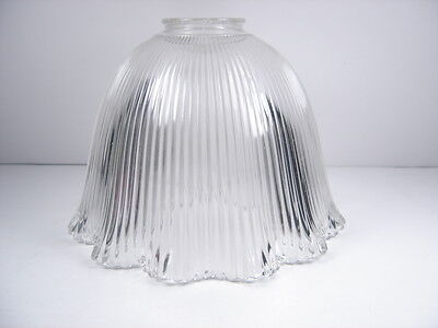 """Vintage 1920's Industrial Glass Holophane Style Light Shade Globe 7-3/4"""""""
